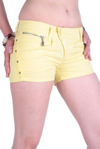 Diesel Damen Bermuda Shorts Hot Pant Faccyo Gelb (W26)