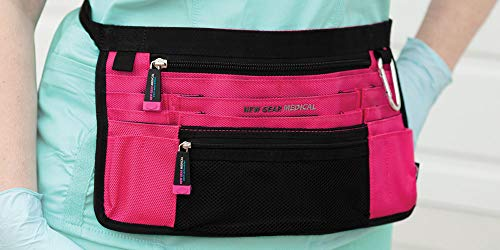Trustee - Antimicrobial Hip Pouch- Pink - for Nurses, Home Health and Medical Professionals - Hands Free Nurse Fanny Pack