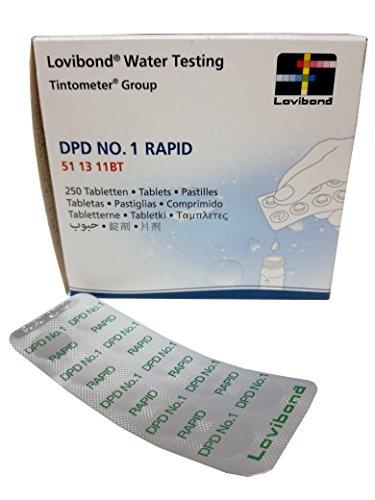 Certikin - 250 Pastiglie Reagenti Dpd N°1 Rapid Per Misura Cloro Libero