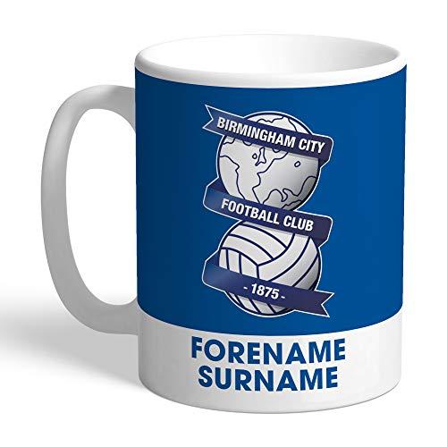 Official PERSONALISED Birmingham City FC Bold Crest Mug