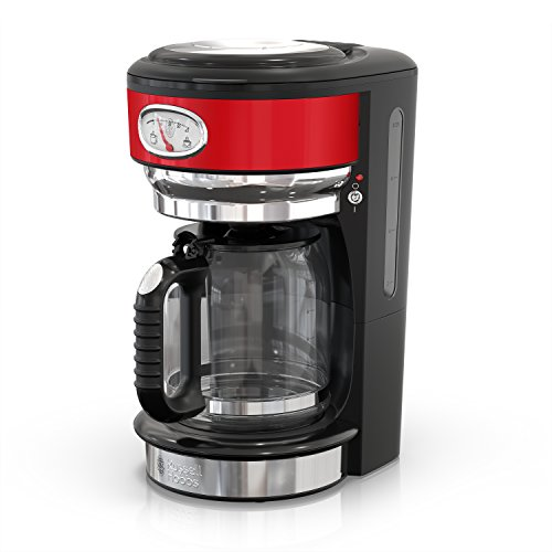 Russell Hobbs Retro Style Coffeemaker, 8-Cup, Red & Stainless Steel, CM3100RDRC