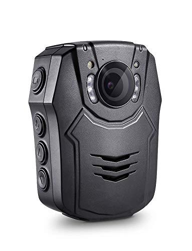 BOBLOV Körper Kamera HD 1296P Polizei Kamera getragen Videokamera 32GB Polizeikamera mit Infrarot-Nachtsicht,150° Weitwinkel und LED-Lichtkompensation und Laserpositionierung