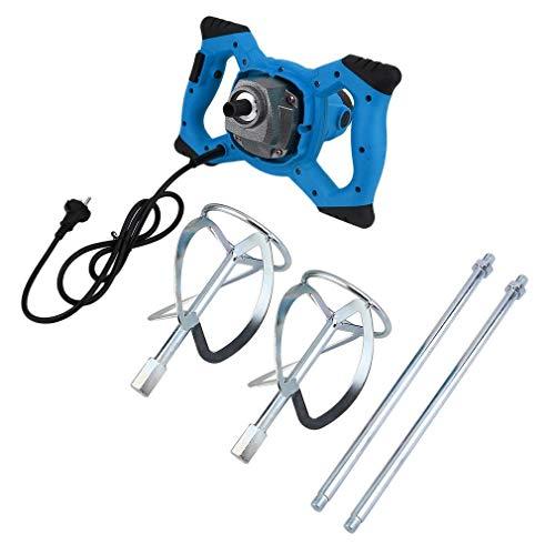 Handrührwerk 1600W, Farbe- Mörtelrührer, Handrührgerät Werkzeug für Industrie und Haushalt Rührwerk, Mit 2 Rührquirl