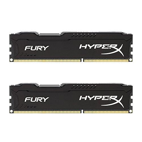 HyperX HX316C10FBK2/8 Fury Schwarz Arbeitsspeicher, DDR3, 8GB (Kit 2x 4 GB), 1600MHz, CL10, 240-pin UDIMM