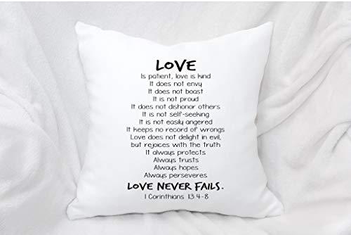 Almohada decorativa, regalo de San Valentín, funda de almohada, hermosa almohada, almohada para cama, corintia
