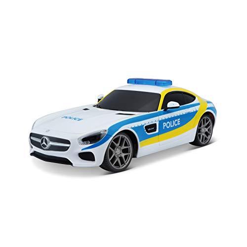 Maisto Tech R/C Mercedes AMG GT 581510 - Coche teledirigido (Escala 1:24, Efecto policía,...
