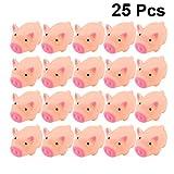 Toyvian 25 Piezas Mini Cerdo de Goma, Baby Shower Goma de Cerdo Rosa Juguete de Baño de Goma para Ducha Fiesta de Cumpleaños Favorece Regalo
