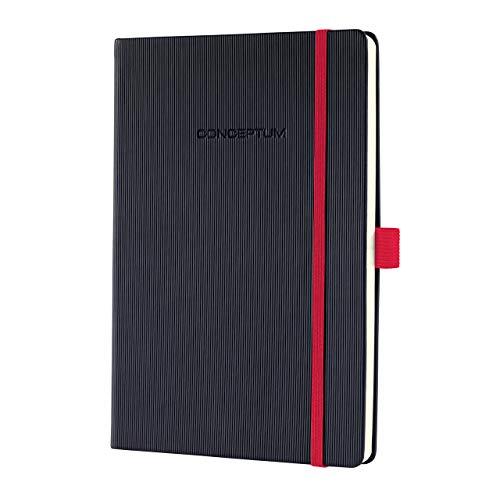 SIGEL CO662 Notizbuch ca. A5, kariert, Hardcover, schwarz / rot, Conceptum - weitere Modelle