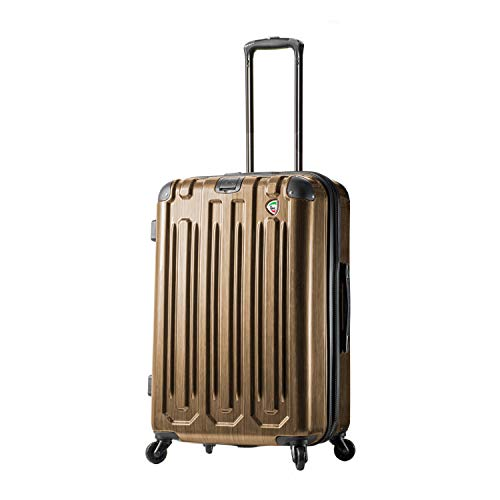 Mia Toro Italy Lustro Hardside 28 Inch Spinner Luggage, Gold, One Size