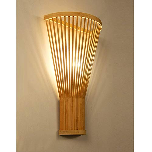 YAYONG Sala De Estar Moderna Minimalista Pared Bambú Lámpara Tejida A Mano Creativa