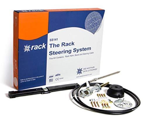 Teleflex Bootslenkung Seastar ''Back Mount The Rack'' Steuersystem mit Kopf+Kabel+Montagesatz bis 21 Fuß 1 Preis Zahnstangenlenkung Bootssteuerung Größe 16 Fuß - 4,88m