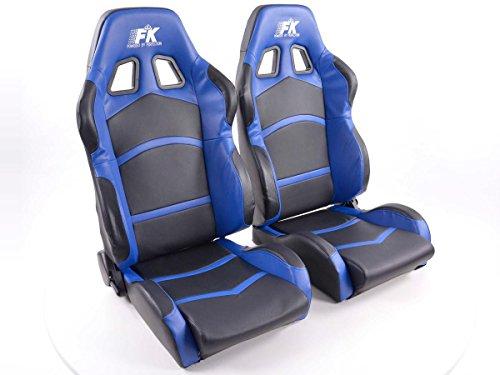 FK Automotive FK Sportsitz Autositz Halbschalensitz Set Cyberstar Rennsitz Motorsport-Optik FKRSE653/655