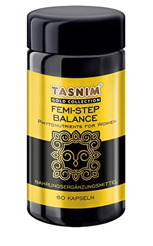 Tasnim Femi-Step Balance Kapseln mit Leinsamen Extrakt Yams Wurzelextrakt Soja Bohnenextrakt Rotklee Extrakt für Wechseljahrbeschwerden