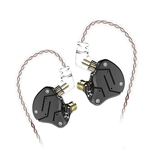 KZ ZSN HiFi Noise-Isolating in Ear Monitor Without Microphone (Black Grey)