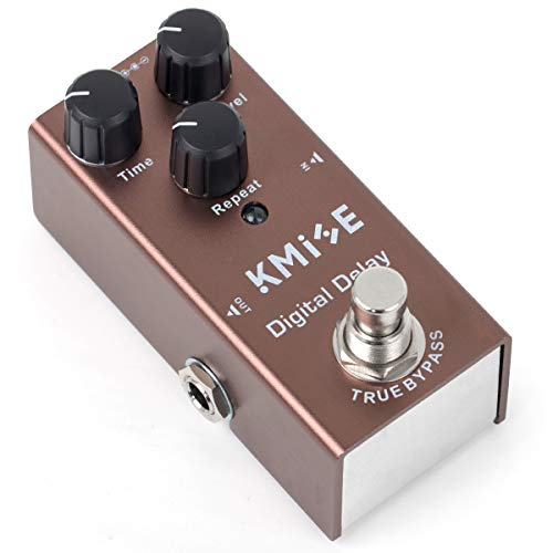 lotmusic Electric Guitar Effects Pedal Mini Single Type DC 9V True Bypass Digital Delay(Brown)