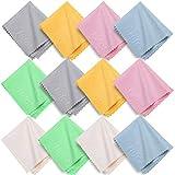 Hifot toallitas limpia gafas 12 piezas, Paños de Microfibra para Limpiar para la Limpieza...