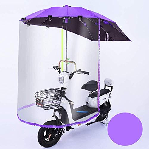 Motorfiets regenhoes, opvouwbare universele elektrische fiets fiets zonnescherm regenhoes-waterdichte batterij auto luifel paraplu
