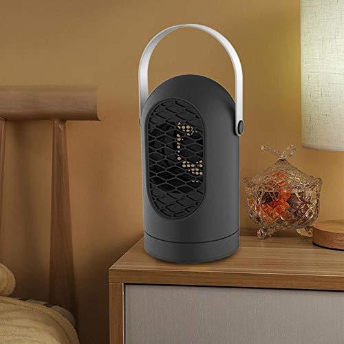 Volwco Calefactor eléctrico, 400 W, bajo Consumo, portátil, silencioso, 3 s, función de desconexión de sobrecalentamiento, para casa, Oficina, Dormitorio, 1 Unidad