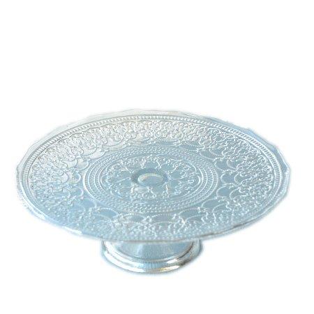 アラベスク ガラス ケーキスタンド (ガラス 皿 プレート アンティーク)