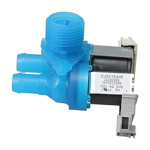 RDEXP W10212596 Kunststoff und Metall Waschmaschine Wassereinlassventil Mulitcolor 9.2x6.3x9cm