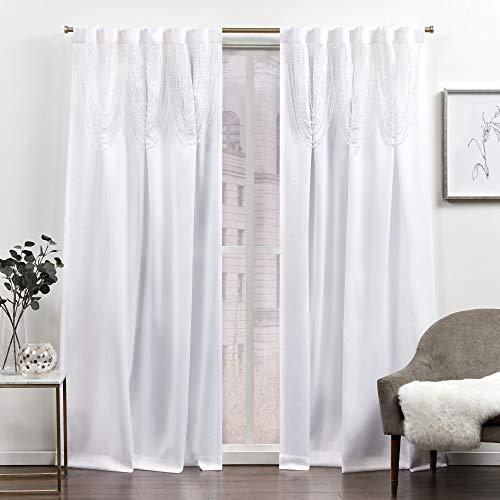 Exclusive Home Curtains Bliss Room Verdunkelungsvorhang, verdeckte Schlaufen, 137 x 213 cm, Weiß