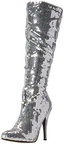 Ellie Shoes Women's 511-Tin Boot, Silver, 8 M US
