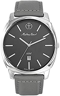 Mathey Tissot Smart Women's Grey Dial Leather Band Watch - D6940aS