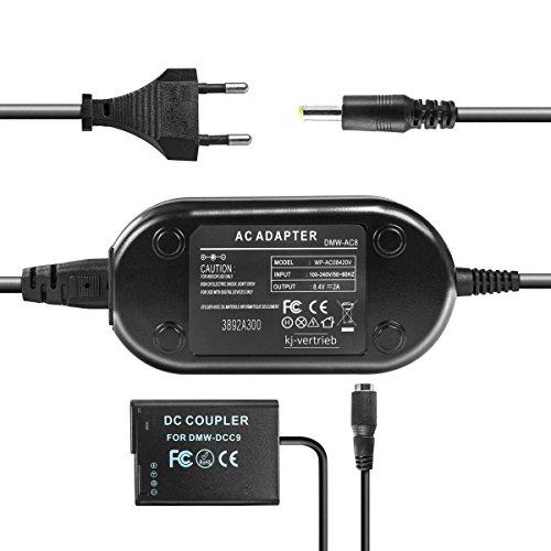 kj-vertrieb Netzteil mit Akkuadapter für Panasonic Lumix DMC-GF2 / DMC-G3 - ersetzt DMW-DCC9, DMW-DCC9E, DMW-AC8, DMW-AC8EG - 8,4V 2A