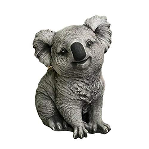 Estatua de resina para jardín, diseño de koala