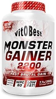 Carbohidratos MONSTER GAINER 2200 - Suplementos Alimentación y Suplementos Deportivos - Vitobest (Fresa, 3,5 Kg)
