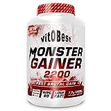 Carbohidratos MONSTER GAINER 2200 - Suplementos Alimentación y Suplementos Deportivos - Vitobest (Vainilla, 3,5 Kg)