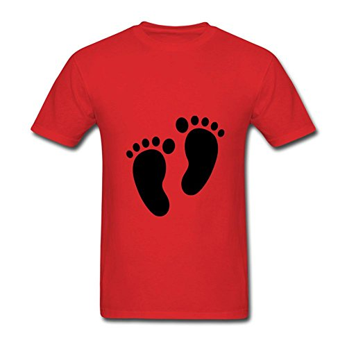 Duanshirt Men's Footprint Clipart Foot Prints Black Silhouette Short Sleeve T-Shirt