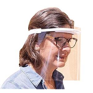 41alV en9xL. SS300  - KMINA PRO - Pantalla Protección Facial Transparente (Pack x10 uds), Visera Protección Facial, Protector Facial con Separación y Agujeros de Ventilación, Pantalla Protectora Cara, Fabricado en España