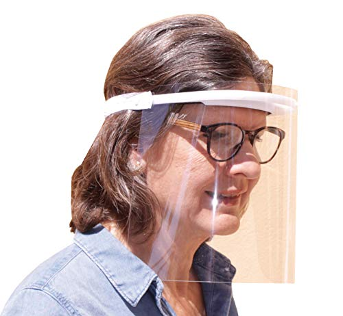 KMINA PRO - Visier Gesichtsschutz (10 Stück), Visier, Gesichtsschutz, Visier Gesichtsschutz für Brille, Schutz Gesicht, Face Shield, Schutzvisier Gesicht, Spuckschutz und Anti Fog, Made in Europe.