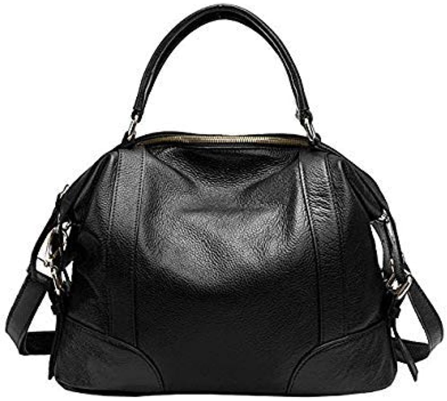 Bloomerang Guarantee Genuine Leather Bags Handbag Women Messenger Bag Brand Luxury Ladies Natural Cow Leather Crossbody Bags Tote color Black 32 x 13 x 23 cm
