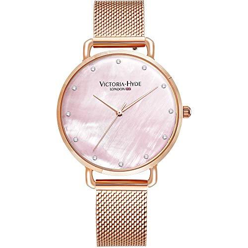 CHESIL Beach - Reloj de Pulsera analógico de Cuarzo para Mujer con Correa de Acero Inoxidable