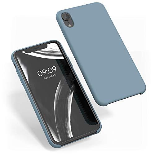 kwmobile Funda Compatible con Apple iPhone XR - Carcasa de TPU para móvil - Cover Trasero en Gris frío Oscuro