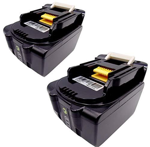 FengWings® 2 stuks accu 14,4 V 4,0 Ah BL1430 BL1440 BL1440B vervangende accu met LED-lampen compatibel met Makita BL1430 BL1440 BL1440B BL1450 BL1415 194066-1 194065-3 194558-0 BCL140Z BML145 BML184
