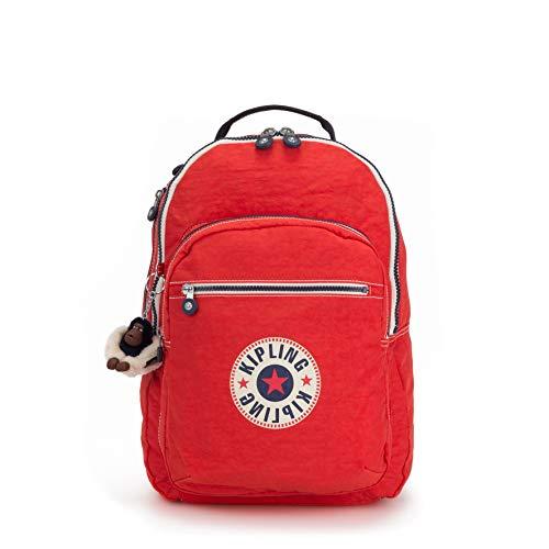 Kipling CLAS SEOUL School Backpack, 45 cm, 25 liters, Red (Active Bl)