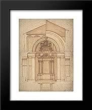Anonymous Artist, Italian, 17th Century - 15x18 Framed Museum Art Print- Project for an Altar