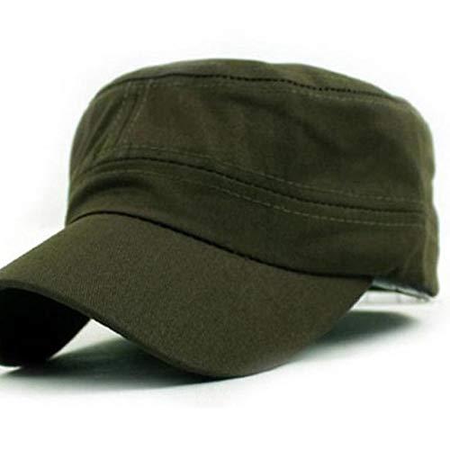 QOHNK Nuevo clásico Llano Vintage ejército cadete Estilo algodón Gorra Sombrero Sombreros Ajustables para Hombres Gorra Hombres Gorra de béisbol Hombres