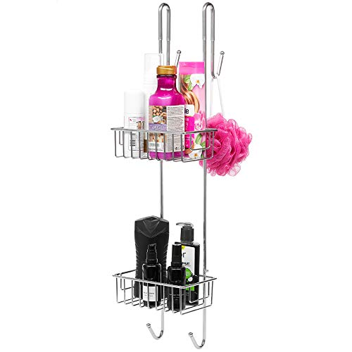 Bamodi Duschablage zum Hängen Edelstahl rostfrei - Duschregal ohne Bohren für Bequeme Aufbewahrung von Shampoo - Rutschfester Duschkorb zum Einhängen - Duschregal Hängeregal (70 x 21 x 18,5)