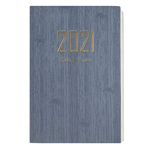 Agenda 2021 Giornaliera A5 Agenda Settimanale 2021 da Gennaio a Dicembre 2021 Copertina Morbida Journal Notebook con Carta Bianca 20.8x14.5 Cm