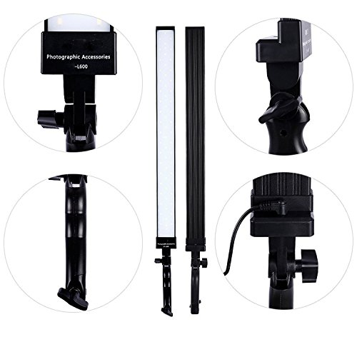 Portable Dimmable LED Filming Video Lights Kit with Tripod Stand 36Wx2 for Photography Photo Studio Continuous Output Handheld Lamps Lighting Kit Camera Shooting,YouTube-2 Pack-Lightweight