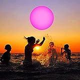 Aufblasbarer Wasserball, 16 Zoll PVC Bouncy Kickball, Strandball mit 13 Farben Glowing Ball...