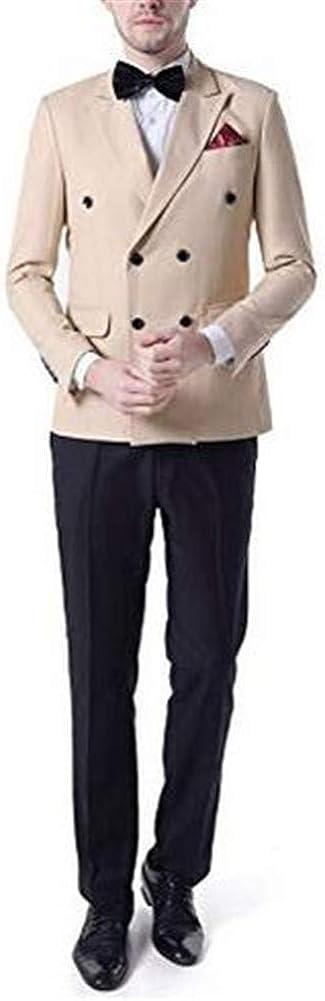 Peak Lapel Men Suit Slim Fit Casual 2 PCs(Jacket+Pants) Blazer Wedding Grooms Tuxedo