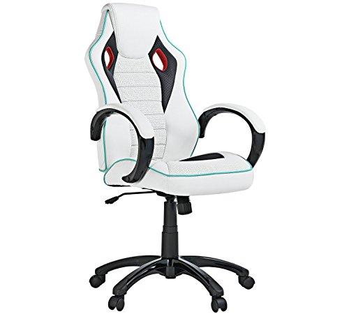 X-Rocker - Sedia da ufficio regolabile in altezza, colore: Bianco