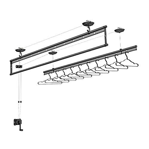 LINLIN Indoor Kleding Droger en Montage Set, muur en plafond waslijn, droogrek 2.4m Balkon Lifting Droogrek - Handmatige Drogen Hanger
