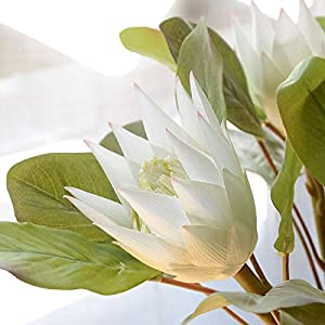 Artificial and Dried Flower 1Pcs Artificial Flower Africa Protea Cynaroides King Flower Home Garden Office Decoration Decor Fake Flower Plant Floral