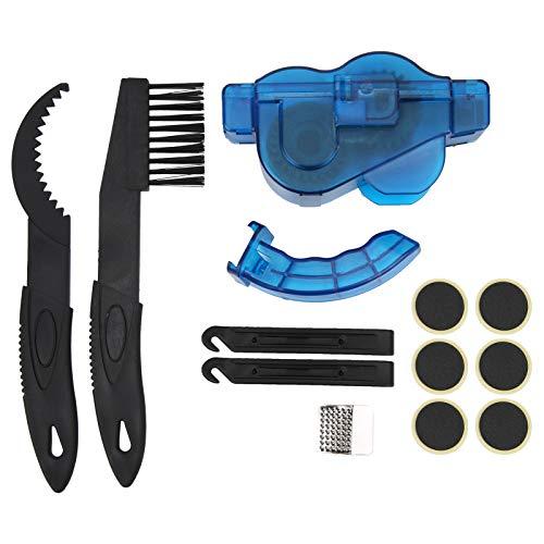 Kit de Cepillo de Cadena de Bicicleta, práctico Kit de Limpieza de Cadena de Bicicleta Profesional, Herramientas de reparación de Lavado de Bicicletas, hogar